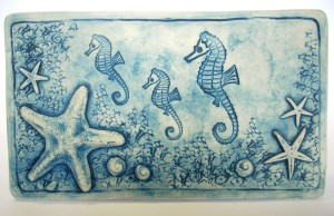 # 4 Seahorse Family Wall Plaque