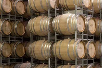 Photo of wine barrels