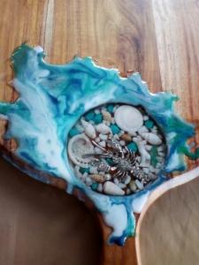Christine's resin inlay work
