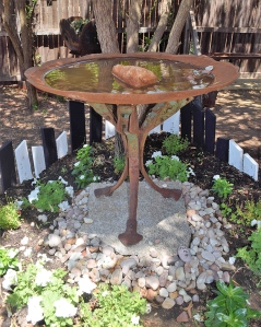 Rustic Revolutions Bird Bath